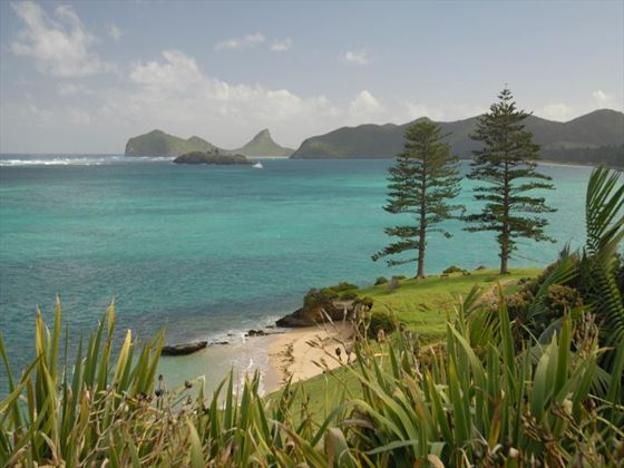 View over Lovers Beach, Lord Howe Island