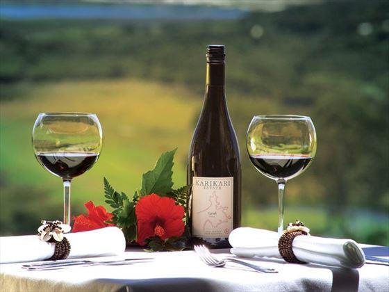 Vineyard lunch in Karikari