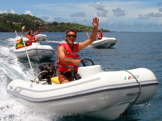 Motorised watersports around the island