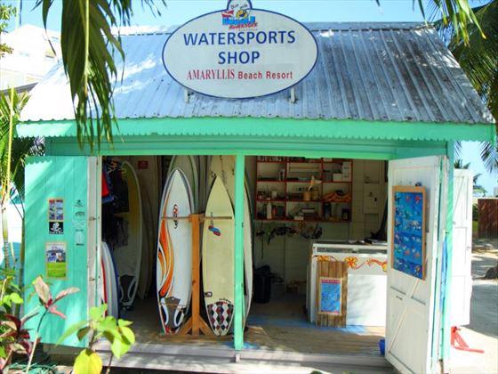 Watersports shop at Amaryllis Beach Hotel