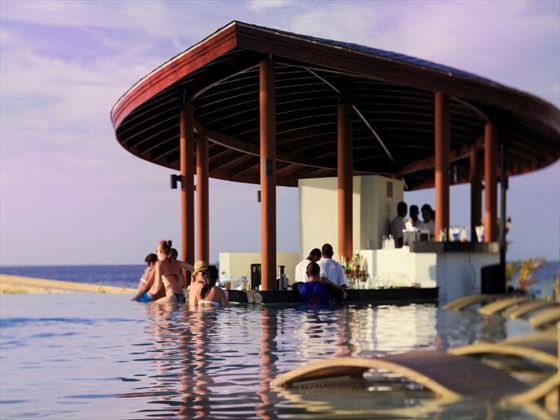 Waves pool bar at Centara Ras Fushi Resort & Spa