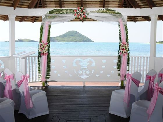 The wedding gazebo at Coconut Bay