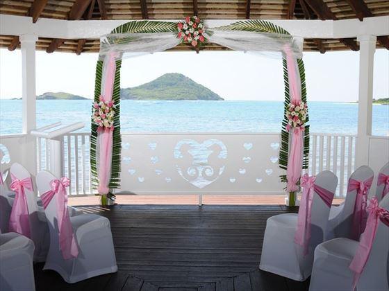 The wedding gazebo at Coconut Bay