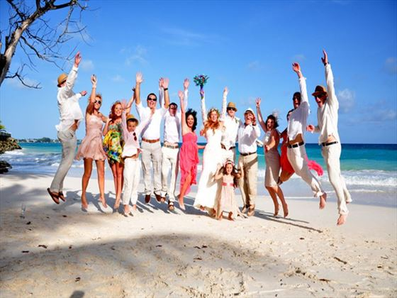 The wedding party at Bougainvillea