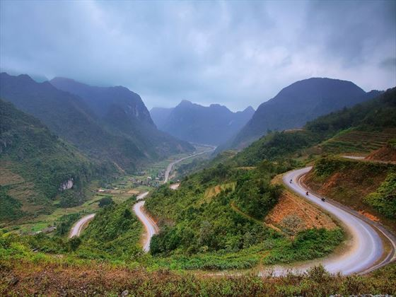 Winding road in Vietnam