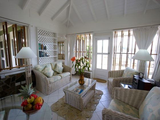 Young Island Luxury Suite living room