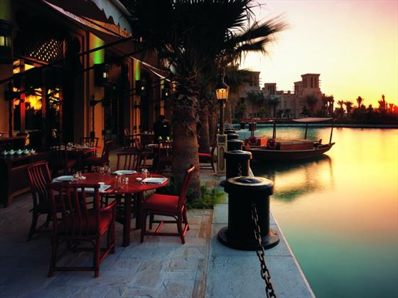 Zheng He's restaurant terrace at Madinat Jumeirah