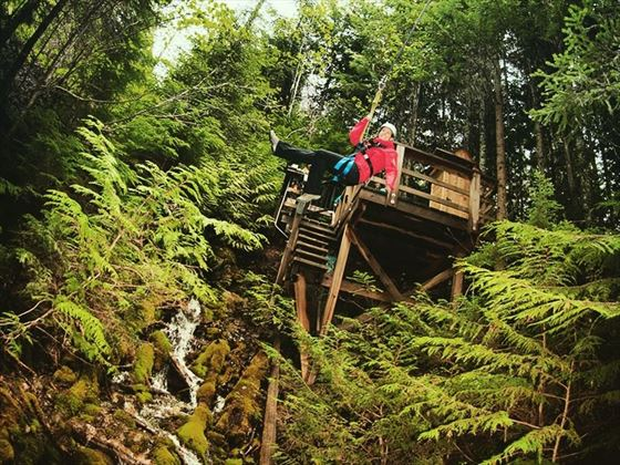 Zip wire adventures with Ecotrek Whistler