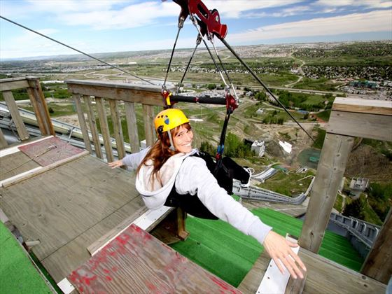 Zipline at WinSport Canada Olympic Park