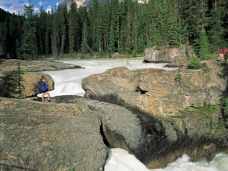 Hiking at Nature Bridge on the Kicking Horse River, Yoho National Park