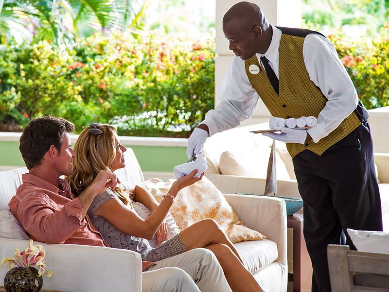 a warm welcome at sandals grande st lucia