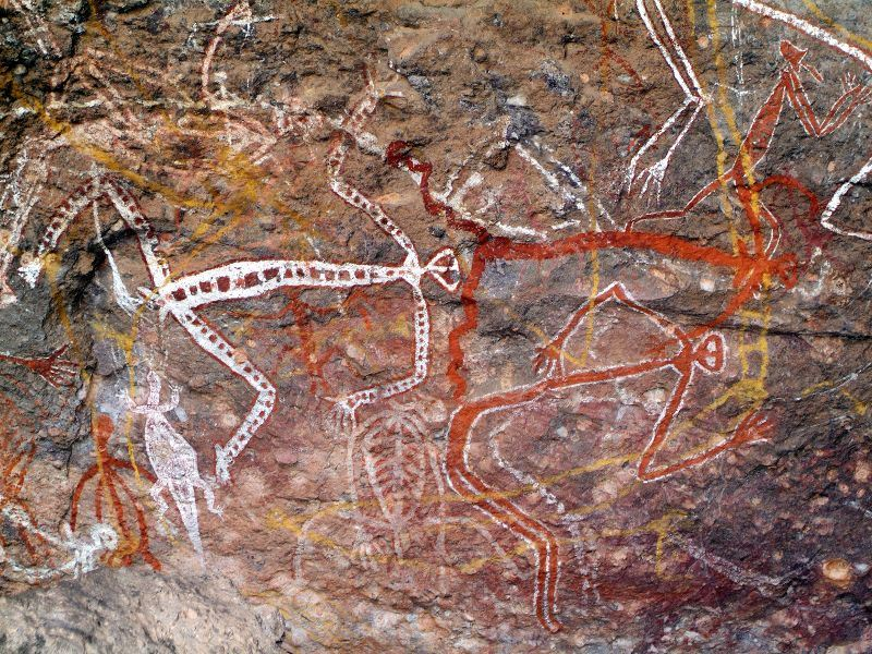 aboriginal art at nourlangie northern territory
