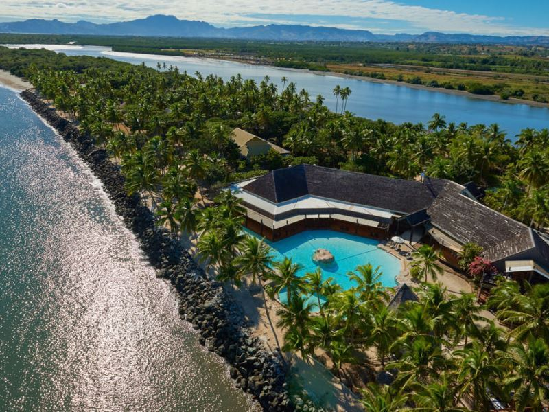 aerial view doubletree by hilton hotel fiji