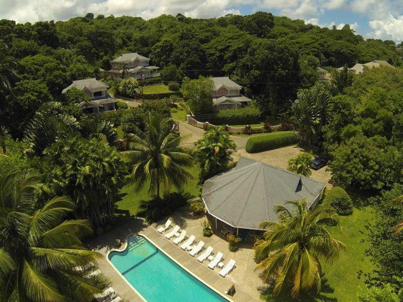aerial view plantation beach villas