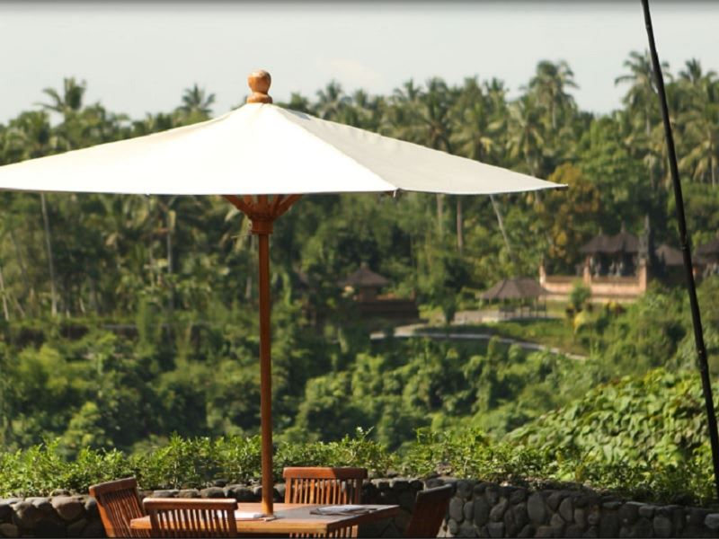 alila ubud plantation restaurant terrace