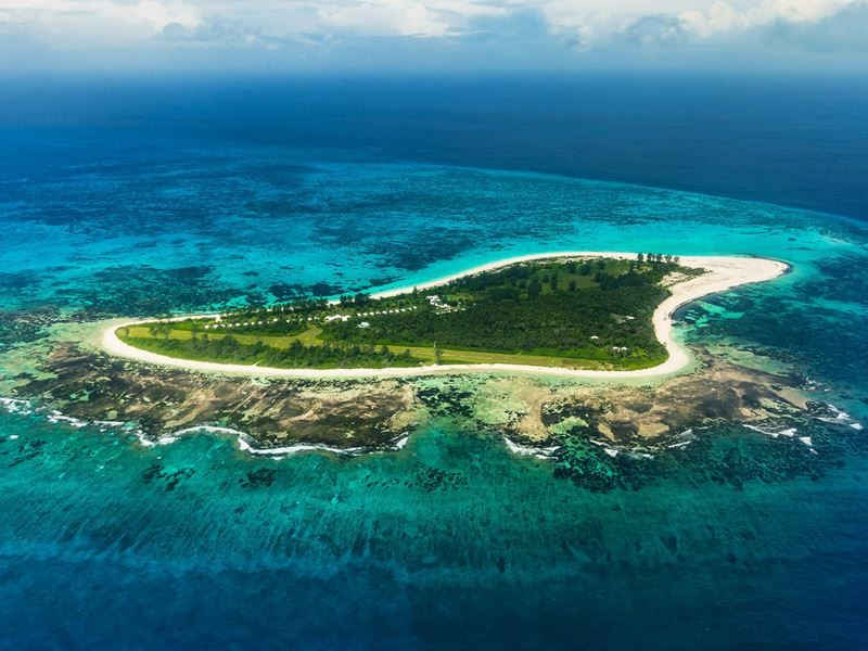 bird island viewed from the air
