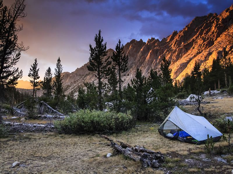 camping on the john muir trail