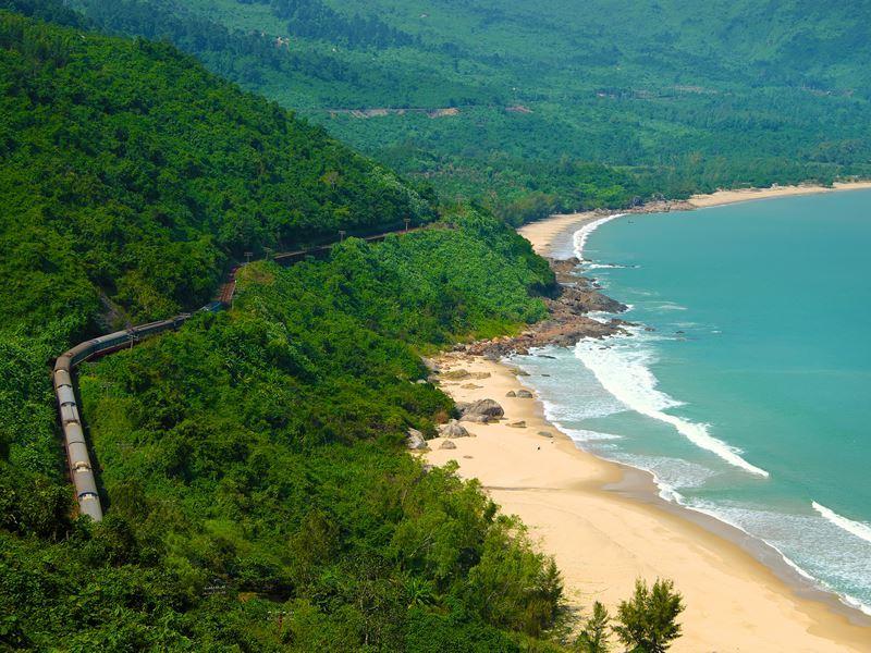 coastal train route hue vietnam