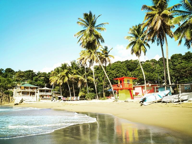 colourful castara bay tobago
