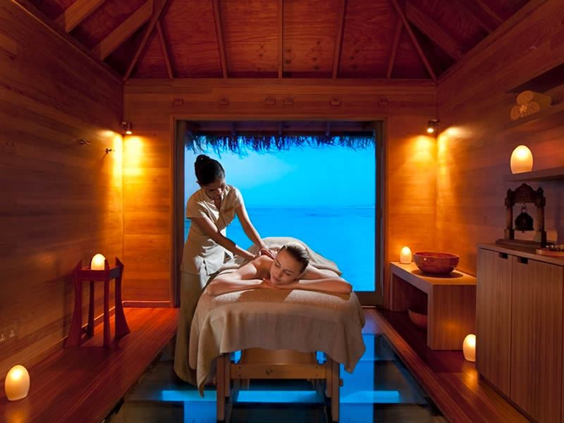 conrad maldives pamper yourself at the over water spa