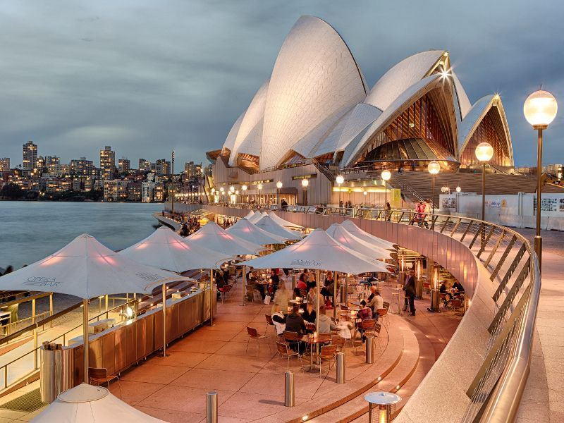 dining at the opera bar sydney opera house