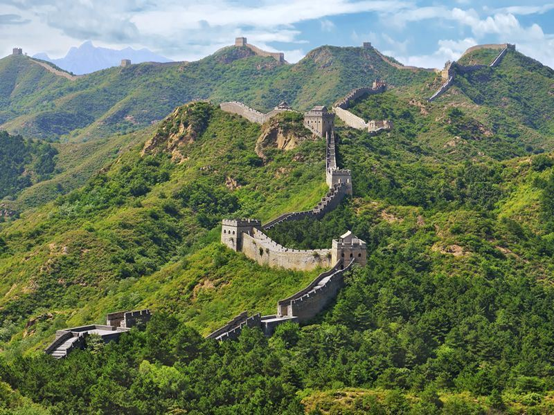 Great Wall of China in the summer