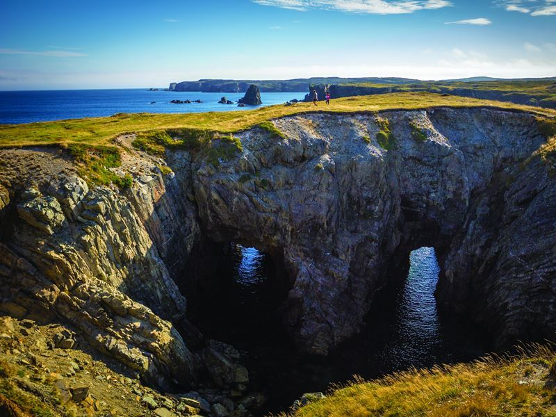hiking sea cave dungeon provincial park bonavista