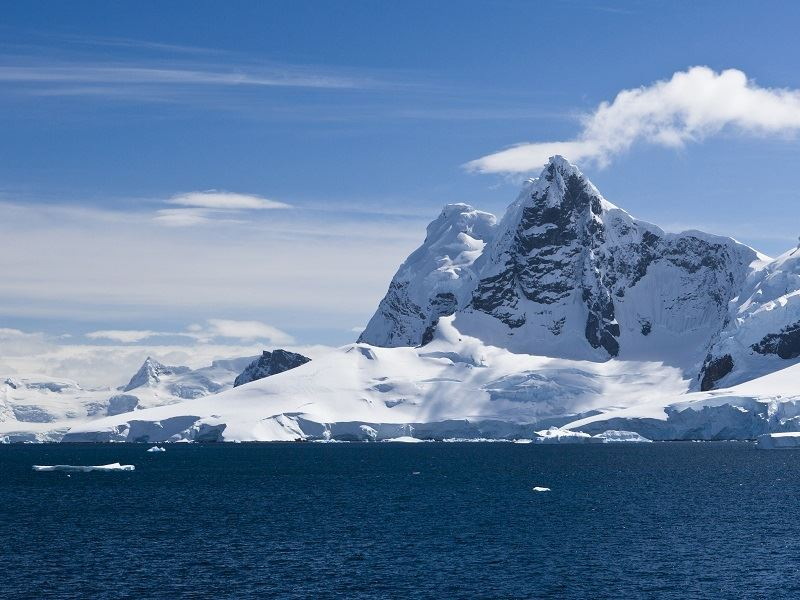 icebergs in the antarctic peninsula
