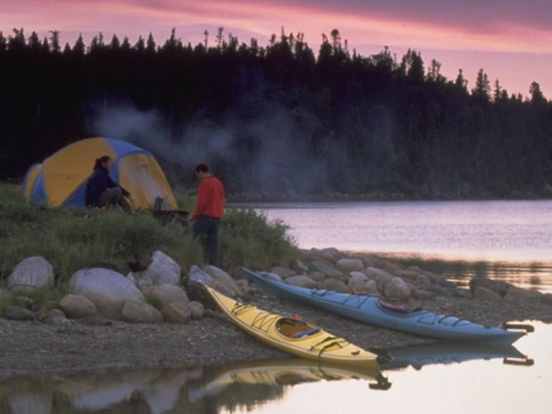 kayaking and remote camping in terra nova national park