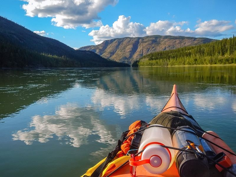 kayaking on the yukon river