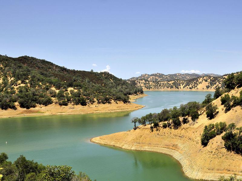 lake berryessa in the hills east of st helena