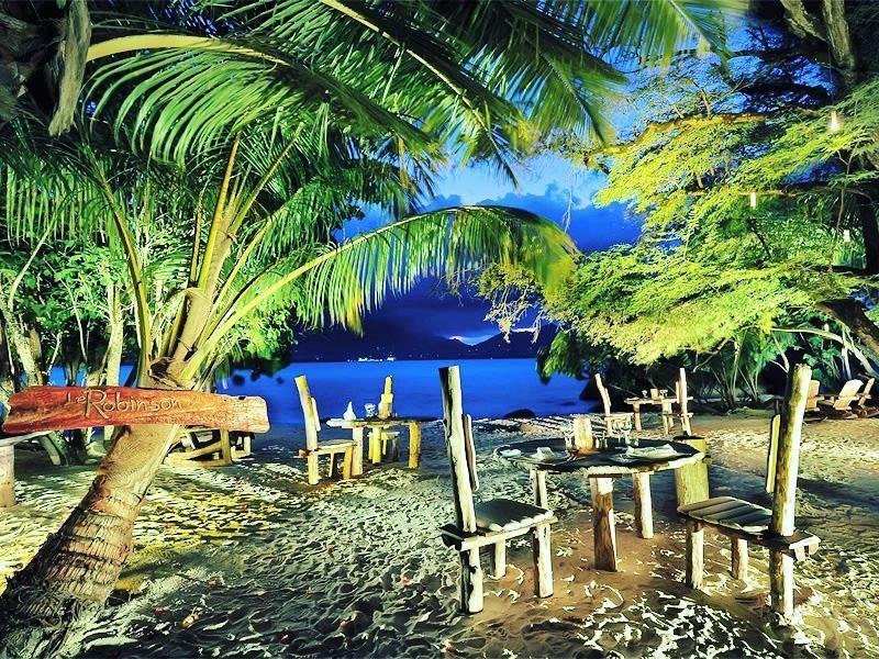 le robinson beach dining sainte anne resort spa