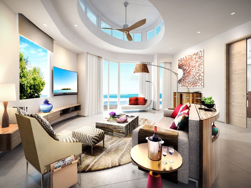 lux north male atoll  superior villa living interior   artists impression