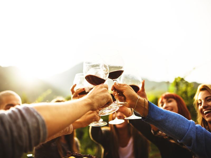 making a toast napa valley