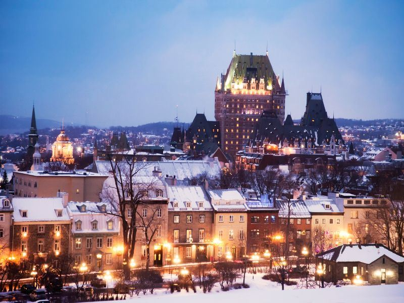 old quebec cityscape