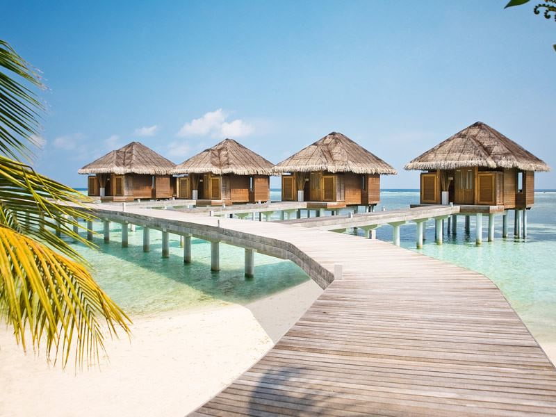 Over-water spa rooms at LUX* Maldives