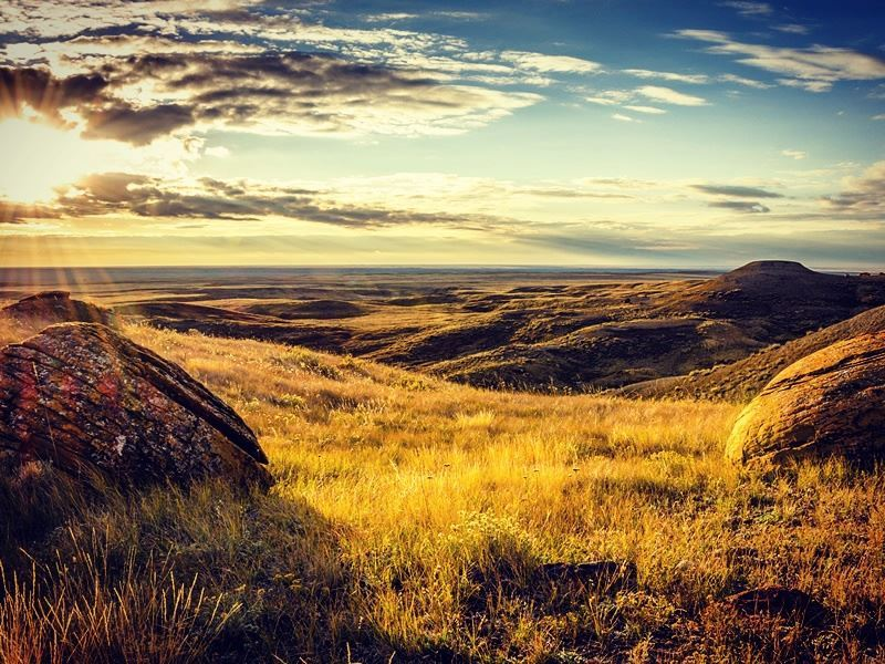 red rock coulee alberta badlands