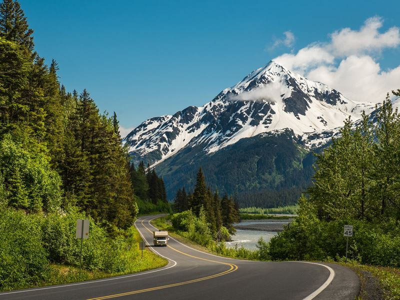 road near seward alaska