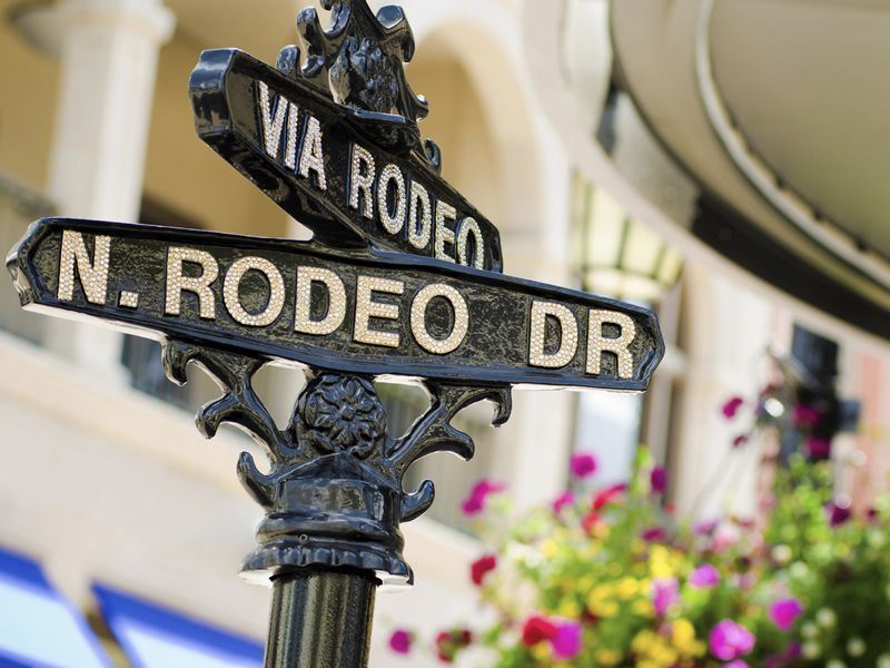 Rodeo Drive sign, Beverly Hills