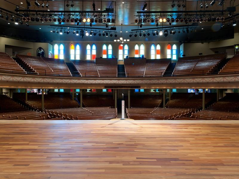 ryman auditorium stage