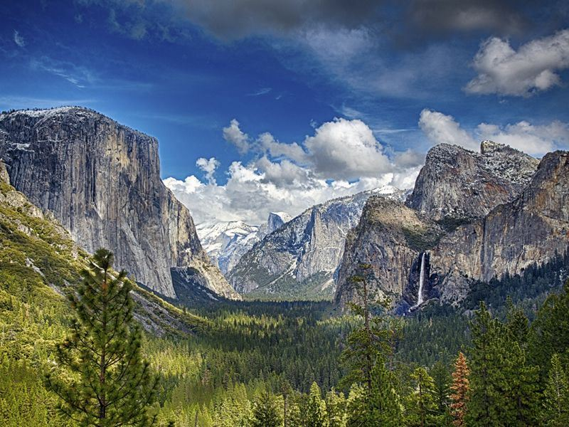 scenic yosemite national park