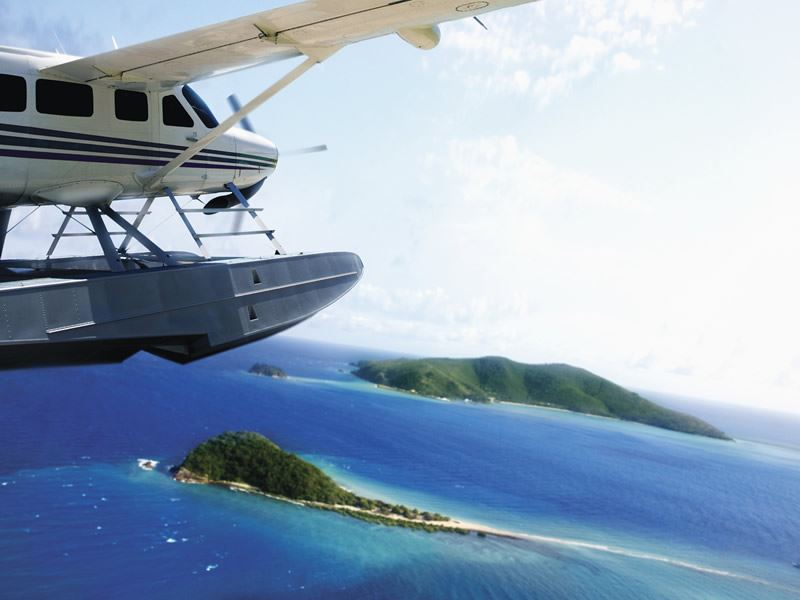 seaplane one and only hayman island
