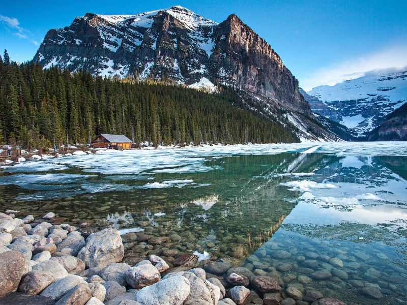 the canadian rockies winter reflections