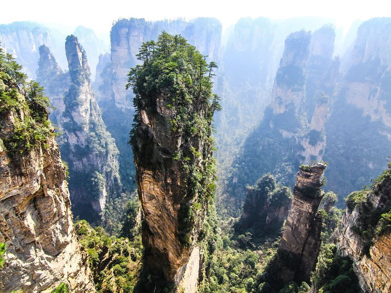 tianzi shan mountain hunan province china