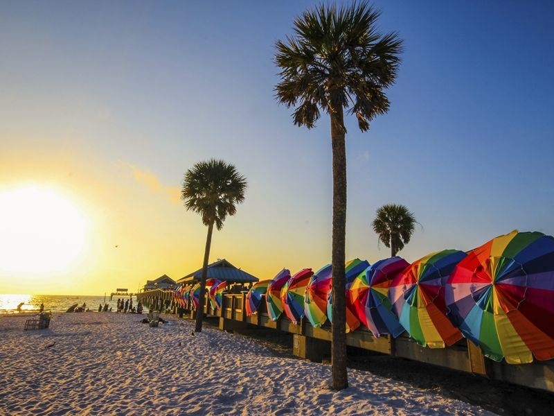 vibrant colours of clearwater beach