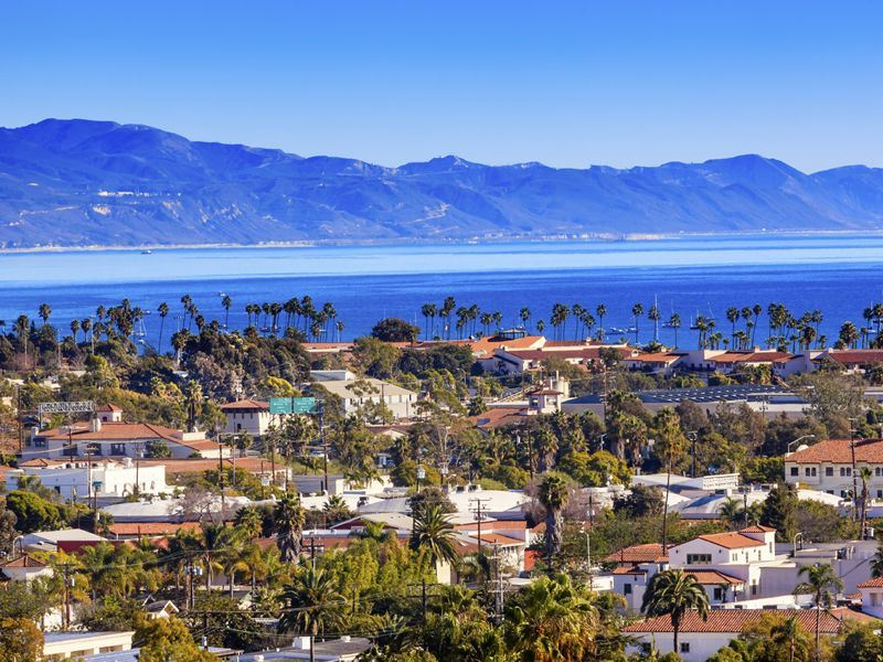 view across the water in santa barbara