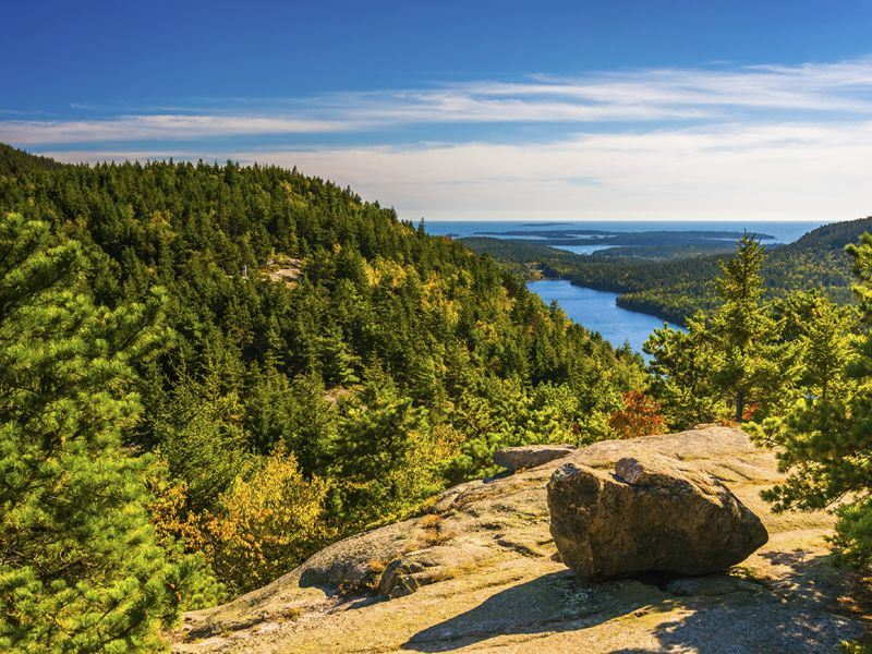 view from north bubble in acadia national park maine