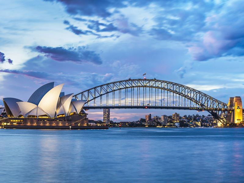 view sydney opera house and harbour bridge
