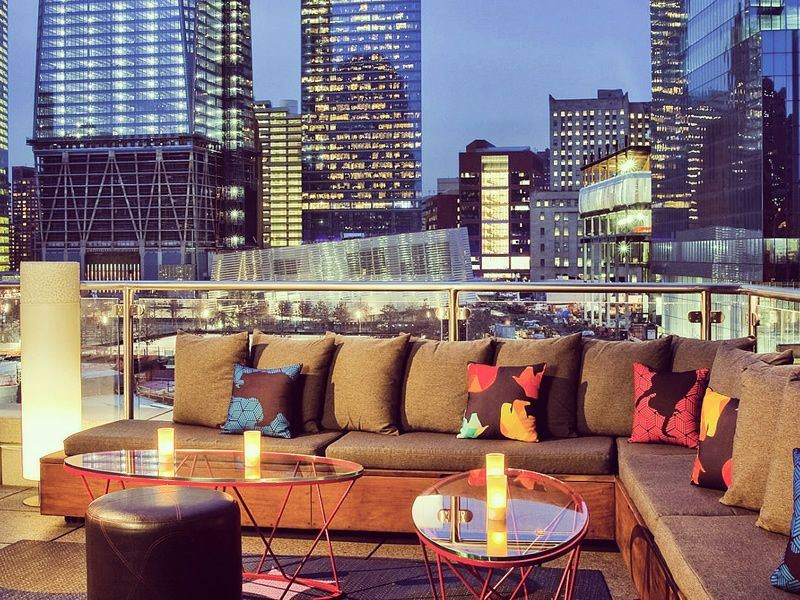w new york downtown living room bar and terrace