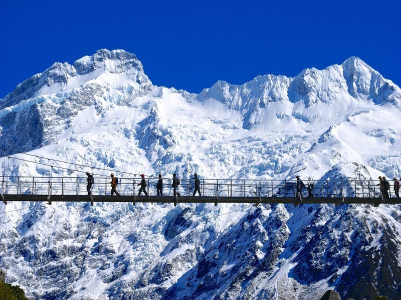 walking in the sky   mt cook   christchurch  canterbury tourism